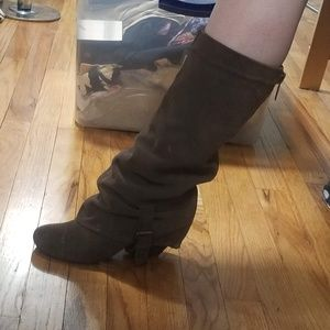 Chinese Laundry Rolled Cuff Slouchy Boots 7.5